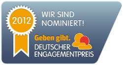 Anderes Sehen e.V. für Deutschen Engagementpreis 2012 nominiert