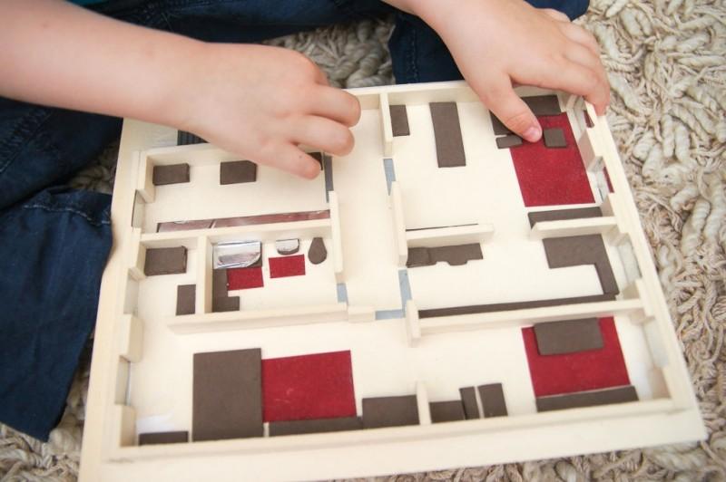 Taktiler Plan einer Wohnung