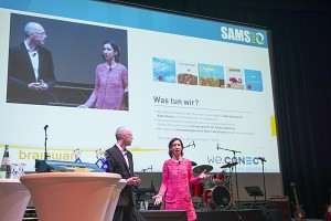 Bei der Verleihung des SAMS Award sprechen Ellen Schweizer und Steffen Zimmermann über ihr Anliegen