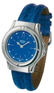 blaue Armbanduhr