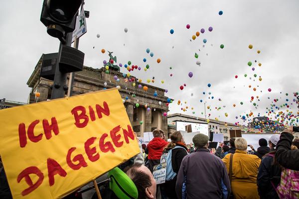 Demo zur Anhörung des BTHG. #NichtMeinGesetz