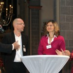 Beim Festakt: Podiumsgespräch mit den Vertretern der drei Preisträger des Kroschke-Förderpreises