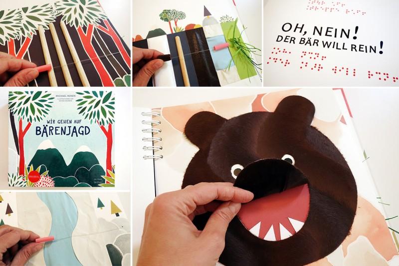 Taktiles Kinderbuch Bärenjagd Detailansichten